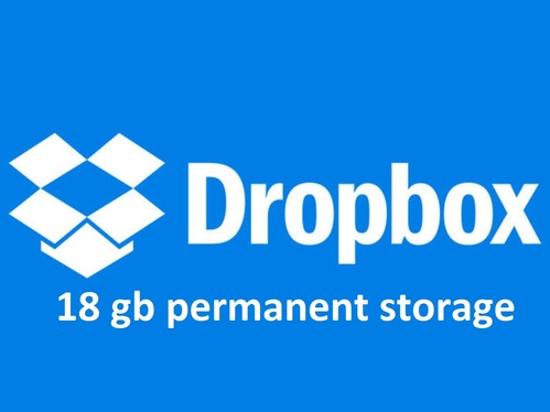 increase your dropbox storage upto 18gb for lifetime