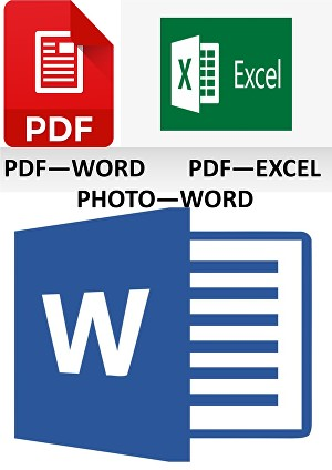 I will Convert your jpg file into word