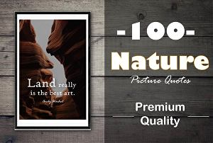 I will design 100 Premium Quality Nature Picture Quotes with your Logo Url Username