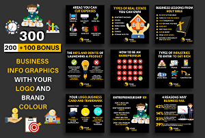 I will design 300 business success tips infographics for instagram