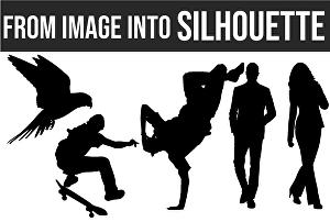 I will convert your 10 photos into Silhouette