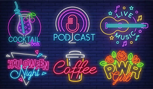 I will design realistic neon light logo for you