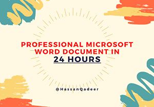 I will format Microsoft word document