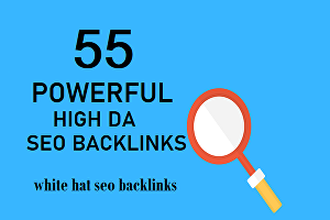 I will Do 55 Manual Powerful High DA White Hat SEO Backlinks Service