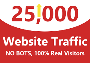 I will drive real 25,000 web traffic worldwide from search engine