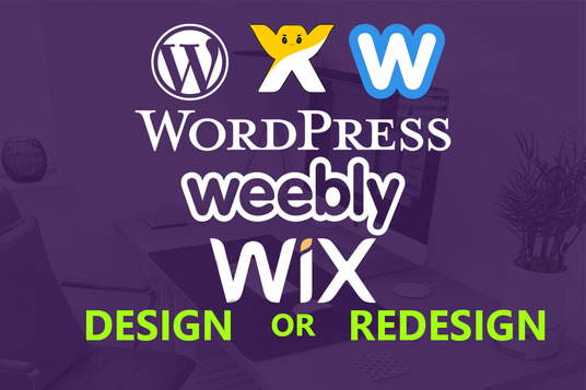do professional website design or redesign on wix and weebly
