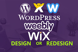 I will do professional website design or redesign on wix and weebly