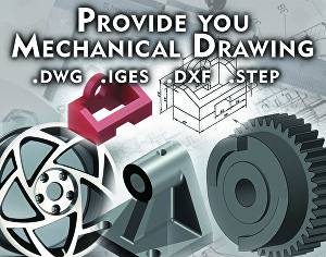 I will design mechanical chassis and devices in AutoCAD