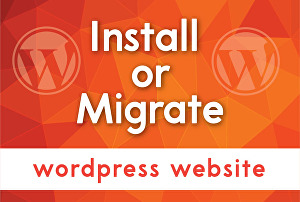 I will install or migrate wordpress website