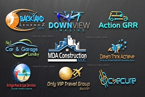 I will design modern logo design with vector file
