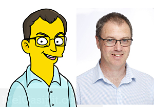 I will draw you in The Simpsons Style Cartoon