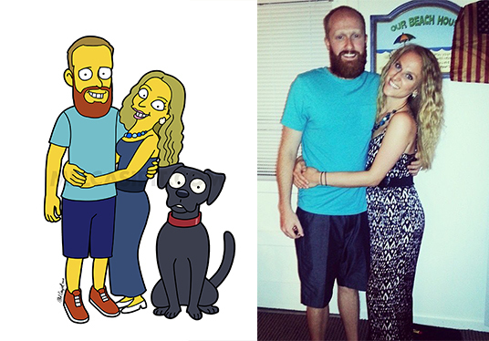 draw you as a SIMPSON CHARACTER