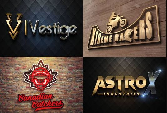 deliver 5 creative logo concepts including a 3d design