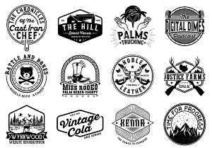 I will create vintage logo and brand identity design