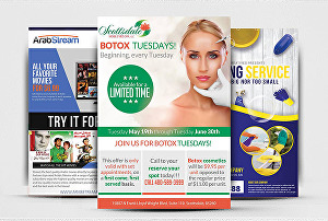 I will design a flyer, bifold, trifold, brochure, poster or leaflet