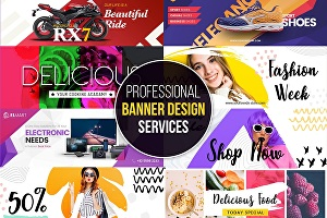 I will do web banners ads design,