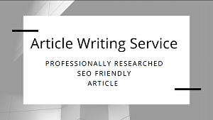 I will  write a unique SEO optimized article on any topic