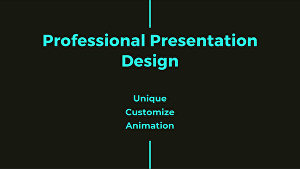 I will design a unique and modern powerpoint presentation