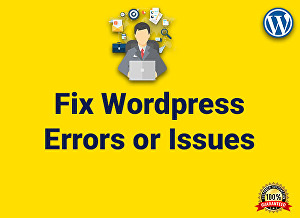 I will fix design problem, website issues, wordpress errors, responsive problem or bugs