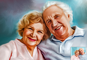 I will turn your photo into digital oil painting