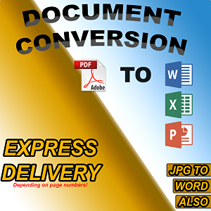 I will convert PDF to word excel powerpoint