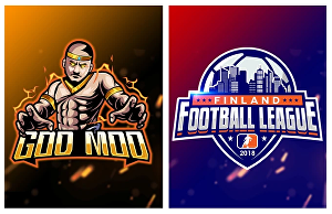 I will design sports logo for your club, team or gaming clan