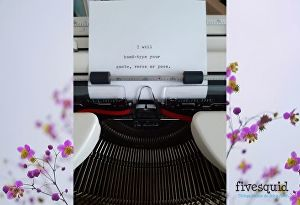 I will Hand type on a vintage typewriter your quote, verse or poem