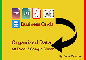 I will transcribe data from business cards, pdf books, images or websites