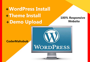 I will install WordPress, clone, transfer, migrate WordPress website and upload demo content