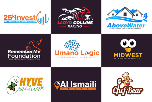 Design Professional And Modern Logo with 4 initial concepts
