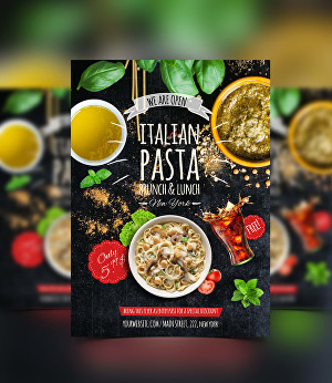 I will design food flyer or poster, restaurant menu