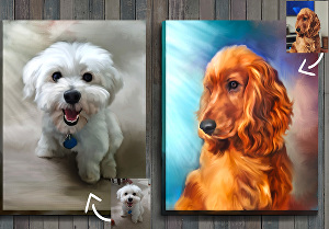 I will turn your pet portrait into digital oil painting