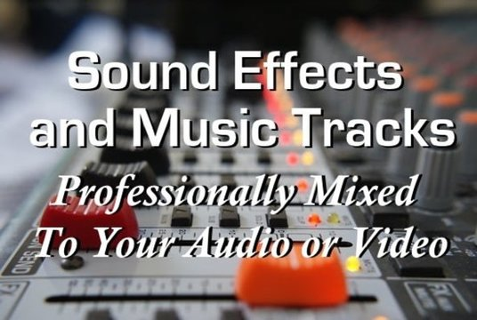 add Music or Sound Effects to your video or audio