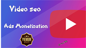 I will give you Ads Monetization SEO for your Youtube Video