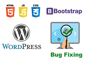 I will fix your HTML,CSS, bootstrap and WordPress bugs