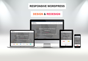 I will design or redesign a responsive wordpress website