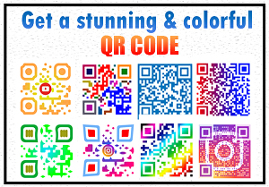 I will create a stunning colorful qr code
