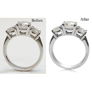 I will do high end jewelry images retouching