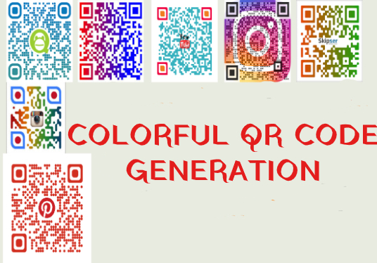 design stunning and colorful  5 qr codes in 24 hrs with logo
