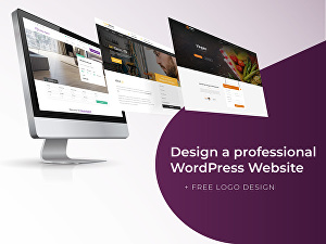 I will Design a Professional WordPress Website and Free Logo