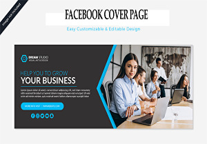 I will Design a Professional looking  Facebook Cover for your business