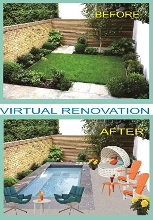 I will create virtual staging or virtual renovation