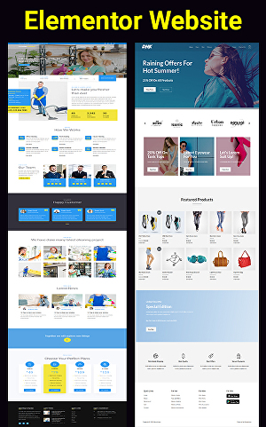 I will Design any website by Elementor or Elementor Pro