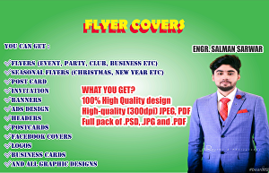 I will design flyer covers and album covers pages in 24 hours