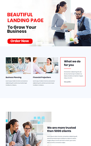 I will Create Beautiful Wordpress Landing Page