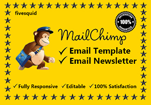 I will Design Mailchimp Email Newsletter Template