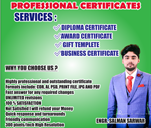 I will do professional certificate, award and diploma certificates