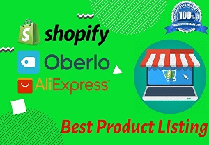 I will do Shopify product listing and product research