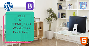 I will create psd, ai to html css wordpress and bootstrap