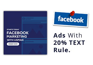 I will create facebook ads with 20 percent text rule